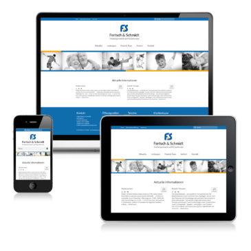 Webseite für die Praxis Fertsch und Schmidt
